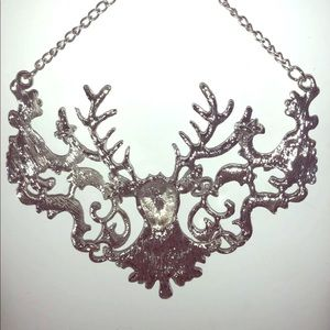 Deer Necklace Silver Betsey Johnson 18